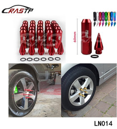 Wholesale High Quality Nuts - 20pcs Pack High Quality Wheel Lug Nuts with Spikes M12x1.5 1.25 Length 90mm RS-LN014