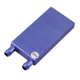 Wholesale Gpu Cpu Water - Wholesale- 40*80*12mm Aluminium Water Cooling Waterblock Heatsink Block Liquid Cooler For CPU GPU Laser Head Industrial Control Cabinet