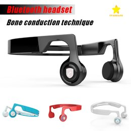 Wholesale Ear Bone Headset - Bluetooth Wireless Eraphone EarShield Smart Sport Bone Conduction Headphone V4.2 for Mobile Phone with Retail Package
