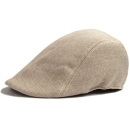 Wholesale Driving Beret - Wholesale-Classic Men Women Duckbill Cap Ivy Cap Golf Driving Sun Flat Cabbie Newsboy Hat Unisex Berets British duck tongue Beret