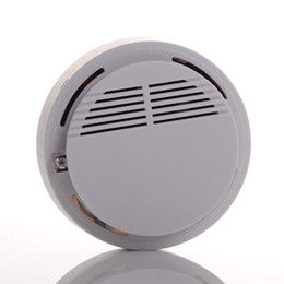 fire security alarm Coupons - Smoke Detector Alarm System Sensor Fire Alarm Wireless Smoke Detector Home Security High Sensitivity Stable LED 9V battery operated white