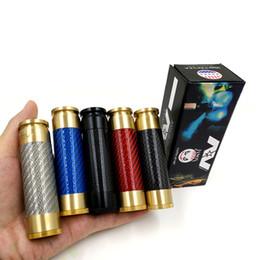 E cigarette clone en Ligne-AV ABLE MOD Fibre de Carbone AV Style E Cig Limitless Edition Clone Cigarette Électronique Mécanique Mod Fit 18650 batterie DHL Gratuit