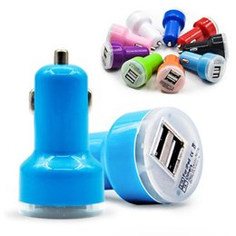 Wholesale Colorful Uk Plug Usb Charger - For Iphone 6 Travel Adapter Car Charger 2 dual Ports Colorful Micro USB Car Plug USB Adapter