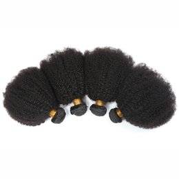 Wholesale Cheap Kinky Curly Weave - Cheap Hair! 4bundles lot 100% Malaysian Virgin Hair Human Hair Weave Wavy afro kinky curly Natural Color Hair Extensions Free Shipping