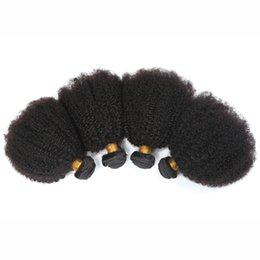 Wholesale Cheap 12 Inch Curly Hair - Cheap Hair! 4bundles lot 100% Malaysian Virgin Hair Human Hair Weave Wavy afro kinky curly Natural Color Hair Extensions Free Shipping