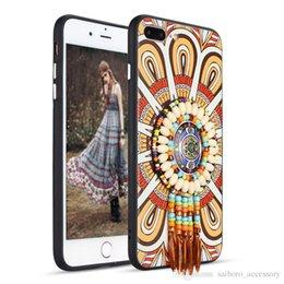 Wholesale G4 Chinese Mobile Phone - For Samsung S8 S8+ S7 Edge Motorola G5 G4 Plus Apple iPhone 6s 7 7Plus 5 SE Huawei P8 Lite P10 Plus GR5 Ethnic Bohemian Mobile Phone Case