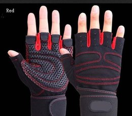 Wholesale Sports Protective Fitness Glove - Strong Gym Fitness Gloves Power Luvas Fitness Academia Anti-skid Guantes Protective Crossfit Gym Gloves Weight Lifting for Sport