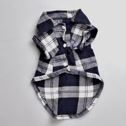 Wholesale Teddy Dog Clothes Summer Autumn - Lattice Pet Clothes Autumn and Winter Models Teddy Clothes Lovely Plaid Shirt Dog Clothes Made By 100% Cotton