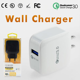 Wholesale Solar Charger Adapters - QC3.0 Wall Charger For Samsung S7 S8 Fast Wall Charger Car Chargers S6 Travel Adapter EU US 5V 3A with Retail Package