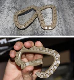 5pcs exterior multifuncional EDC Quick Release D anillo de alpinismo Tactical hebilla mochilero Molle adaptador Grimloc D-Ring Locking desde fabricantes