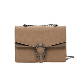 Wholesale Women Handbag Crossbody Strap - Vintage Women Crossbody Bag Female Distressed Style Snake Head Chains Straps Handbag Ladies Retro Brief Clasic PU Leather Shoulder Bag