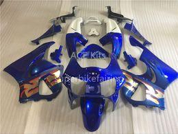 Wholesale Cbr 919 Fairings - 3 free gifts Motorcycle Fairing kit For HONDA CBR900RR 98 99 CBR 900RR 919 1998 1999 ABS Fairings set Blue White AE1
