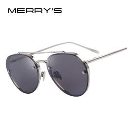 2019 óculos coloridos frescos Atacado-MERRY'S Mulheres Classic Brand Metal Cool Sun Glasses Colorido reflexivo lente Alloy Legs Eyeware S'8051 desconto óculos coloridos frescos