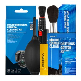 Wholesale Cleaning Blower - Brand New VSGO Professional Multifunctional Camera Cleaning Kit Lens Cleaning Pen Brush Swab Hurricane Air Blower All in One.