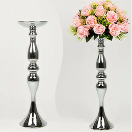 Wholesale Wholesale Birthday Candle Flower - wedding flower ball holder display wedding table decor accessories centerpieces Candle Holders Stand Flowers Vase Candlestick Candelabra