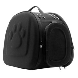 Wholesale Folding Crates - 2017 Pet Travel Carrier small dogs and cats Bag Folding Portable outdoor carrier pet Bag transportin pet sleeping backpack free shipping
