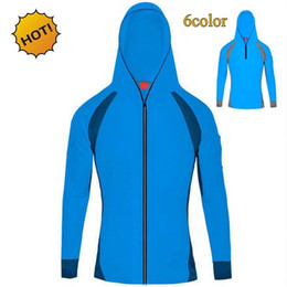 Wholesale radiation clothes - Summer 2017 Outdoor Sunscreen Radiation Protection UV Clothing Men's Long Sleeve Mesh Breathable Quick-dry Fishing clothing Ardigan hoody