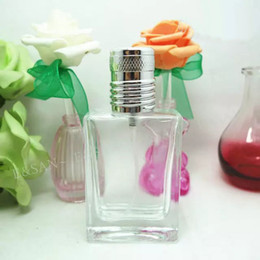 Wholesale Refillable Spray - 100pcs Wholesale Empty Glass Spray Perfume Bottle 30ML Refillable Perfume Bottle Atomizer With Free Shipping PT136-30ML