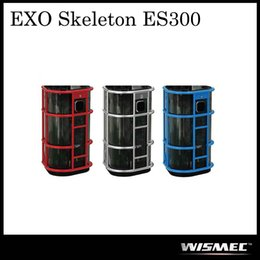 Wholesale High Rate Battery - Authentic WISMEC ES300 EXO Skeleton TC Box Mod Powered by High-rate 18650 Battery Best Match with KAGE Atomizer 100% Original