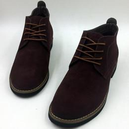 Wholesale Cowboy 45 - Warm Fur Men Winter Boots,Solid Casual Leather Winter Men Boots,Brand Black Male Suede Ankle Warm Men Shoes Plus Size 38-45