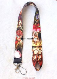 Wholesale New Hot sale Cartoon Japanese Anime Fairy Tail MP3 cell phone keychains Neck Strap Lanyard
