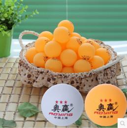 Passendes hohes licht online-Ping-Pong-Spiel mit dem Ball Gelb und Weiß Drei Sterne Tischtennis Hohe Härte Elastizität Lichtqualität 0