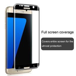 2019 galaxia s6 borde más templado completo 3d curvo para Samsung Galaxy S8 S7 edge S6 edge más cubierta de cristal templado 3D curvo lateral protector de pantalla rebajas galaxia s6 borde más templado completo