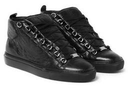 Mens couro tênis on-line-Atacado-2016 frete grátis arena tênis de couro dos homens sapatos de luxo kayne west formadores de marca Mens Sneakers homens mulheres marca moda sapatos