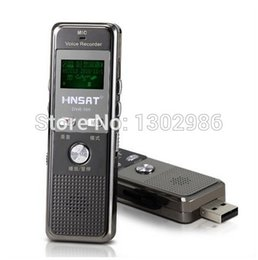 Wholesale Free Dictaphone - Wholesale-Free shipping New 4GB Digital Voice Audio digital recorder Recorder Dictaphone with MP3 Player Function