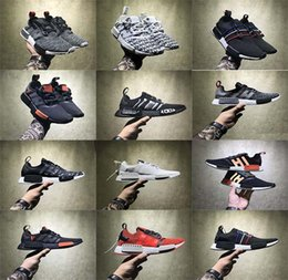 Wholesale Women Size 11 Shoes - With Box 2017 Discount Cheap Wholesale NMD R1 Runner PK Running Shoes Men Women Mesh Boost Sports Shoes Free Shipping Size 5-11