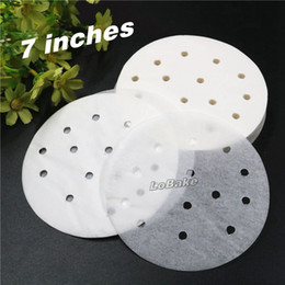 Wholesale Wholesale Paper Tableware - Wholesale- (400pcs pack) 7 inches round steaming paper oil proof steamer tools China mantou baozi placemat baking sheet kitchen tableware