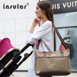 Wholesale Baby Carriage Bag - Wholesale- Good Quality Brand Baby Carriage Bag Diapers Bags Mother Nappy Handbag For Mom Bag -GZ01