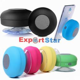 Wholesale Mini Car Bluetooth Speaker - Bluetooth Speaker Waterproof Wireless Shower Handsfree Mic Suction Chuck Speaker Car Speaker Portable mini MP3 Super Bass Call Receive