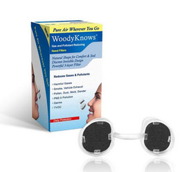 Wholesale Air Gas - WoodyKnows Gas & Pollutant Reducing Nose Nasal Filters Nose Masks Pollen Allergies Dust Allergy Relief No pm2.5 Air Pollution