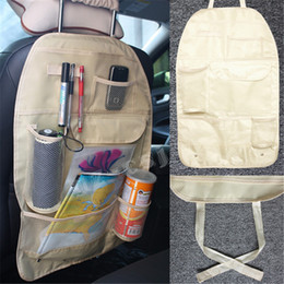Wholesale High Chair Seat Covers - Car Cooler Bag Seat Organizer Multi Pocket Arrangement Bag Back Seat Chair Car Styling High Quality Car Seat Cover Organiser