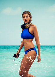 Wholesale Hot Women S Swimsuits - Blasting hot black and blue spell color bikini swimwear split stitching swimsuit bathing suits for women victoria secrets star swimsuits1312