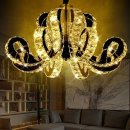 Wholesale Led Project Light Lamp - BE28 Modern Simple Creative LED Crystal Restaurant Lights Chandelier Hotel Living Room Lighting Villa Project Bedroom Pendant Lamps
