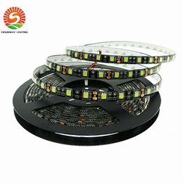 Wholesale Pcb Emc - Black PCB LED Strip 5050 DC12V IP65 Waterproof 60LED m 5m lot White Warm White Red Green Blue RGB 5050 LED Strip