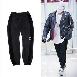Wholesale Hiphop Jogging Pants - Kanye west style Jogging pants men's clothes Pants HipHop kpop oversized Brand Casual zipper pencil pants M-XL