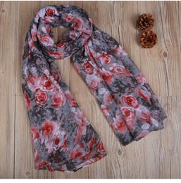 Wholesale Thin Black Headbands - Fashion Autumn Winter Women Scarf Soft Thin Voile Scarves Vintage Lady Shawls and Wraps Beach Headscarf XS-093