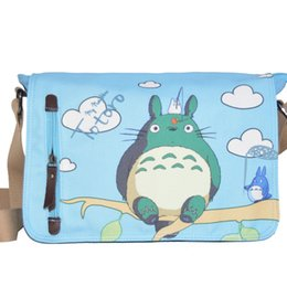 Wholesale Totoro Canvas - 2017 New Design Blue My Neighbor Totoro Bags Canvas Messenger Shoulder Bag Casual crossbody bag factory directly wholesale welcome