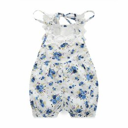 Wholesale Baby Suspenders White - Breathable Babies Rompers Cotton Lace Princess Jersey Floral Fresh Style Suspenders Clothes for Baby Boys and Girls