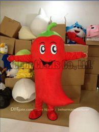 Wholesale Making Cartoon Movies - chili mascot costume free shipping inside mould is sponge, high quality cheap plush chilli mascot cartoon set adult type.