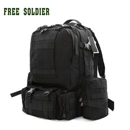 Wholesale Bag Combination - FREE SOLDIER 100% nylon camping hiking traveling outdoor tactical large combination backpack mountaineering bags B08