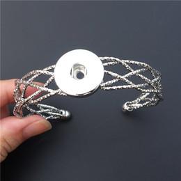 bracelete da jóia da malha Desconto 12 pçs / lote Nova Moda Malha Noosa Pedaços de Metal Gengibre 18 MM Snap Botões Bangle Pulseira Mulheres Jóias