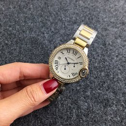 Wholesale Steel Logos Luxury - Women Diamond Brand Watches Luxury Fashion Gold Silver RoseGold Relojes Hombre Customizable Logo Gold Wristwatch