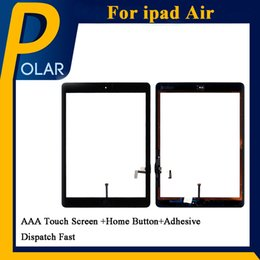 Wholesale Ipad2 Home Button - Best Quality OEM Tablet PC Screen For White iPad Air Touch Screen Digitizer with Home Button +Adhesive & Free DHL Shipping