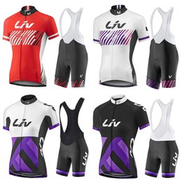 Wholesale Women S Team Cycle Jerseys - Wholesale 12 Style Women girls Liv cycling jersey Short sleeve bib shorts Sets team summer LIV bike bicycle sport ropa maillot ciclismo 2017