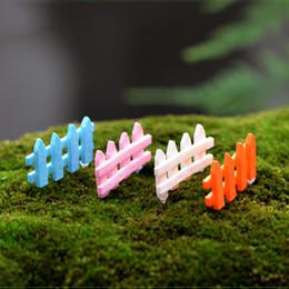 20 pz recinzione statue di plastica artigianato mini fata giardino miniature succulente bonsai strumenti terrario casa delle bambole ornamento jardin gnomi home decor da recinzione in plastica fornitori