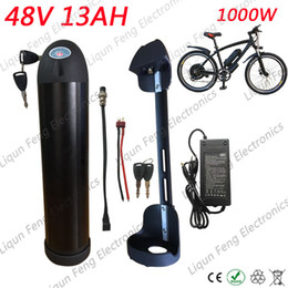 Wholesale Battery Ebike - No Tax Water Bottle High power 1000W 48V 13AH Lithium ion Bottle Ebike battery fit Bafang 8fun BBS02 1000W Motor with 2A Charger